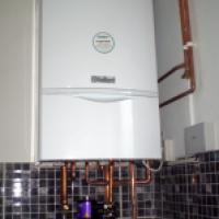 Completed boiler installation